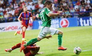 L'attaquant de Saint-Etienne Romain Hamouma, le 21 août 2014, contre Karabükspor.