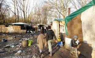 Illustration d'un camp de Roms à Lille. (Archives)
