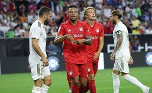 Le Bayern Munich face au Real Madrid lors d'un tournoi amical, le 21 juillet 2019 à Houston.