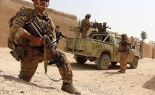 Un militaire de l'armée afghane sur le terrain.