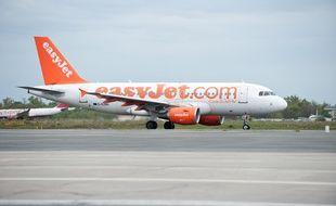 Merignac, 25 avril 2012. - Avion Easy Jet. Photo : Sebastien Ortola