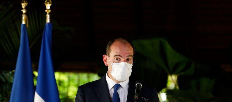 Le Premier ministre Jean Castex delivers lors de son discours à Cayenne, en Guyane dimanche 12 juillet 2020.