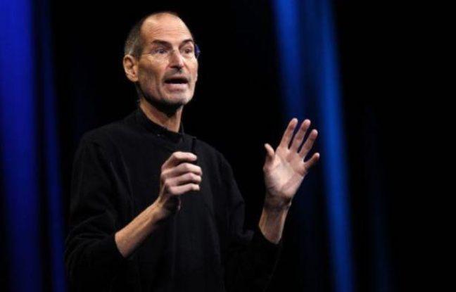 Steve Jobs, le patron d'Apple, lors d'une conférence le 6 juin 2011, à San Francisco.