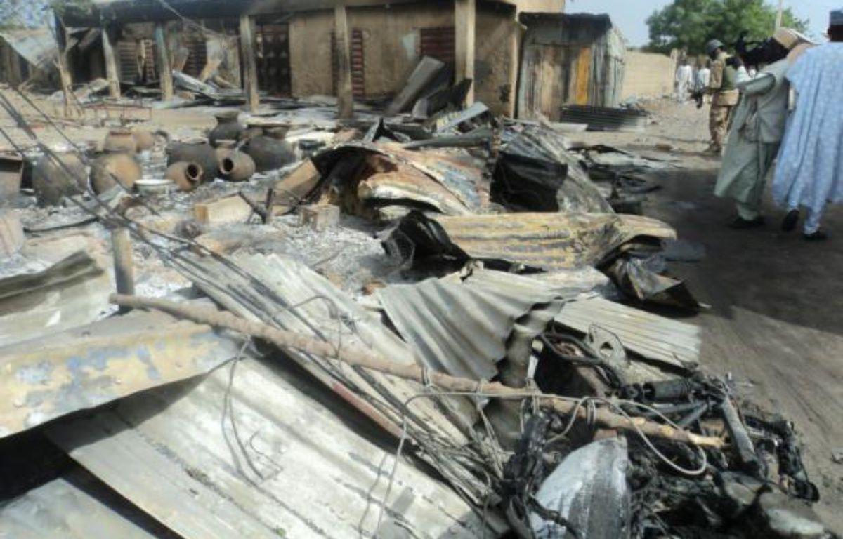 Une précédente attaque à Mafa, au Nigeria, le 2 mars 2014 – STRINGER AFP