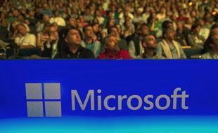 Illustration du groupe américain Microsoft.