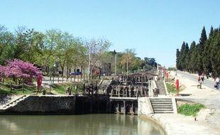 Les neuf écluses, à Béziers