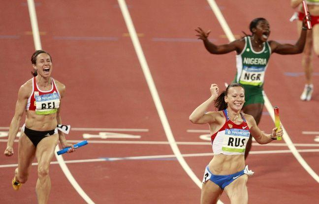 Le relais 4x100m russe, médaille d'or en 2008 aux JO de Pékin, a été disqualifié pour dopage le 16 août 2016.