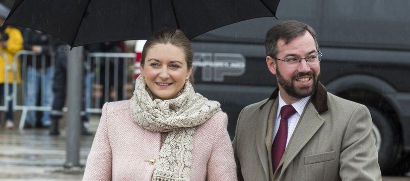 La princesse Stéphanie et le prince Guillaume.