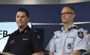 Conférence de presse de la police fédérale australienne à Melbourne, le 28 novembre 2017.