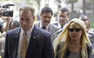Lindsay Lohan à son arrivée au tribunal de Beverly Hills le 20 juillet 2010 avant d'aller purger sa peine de prison.