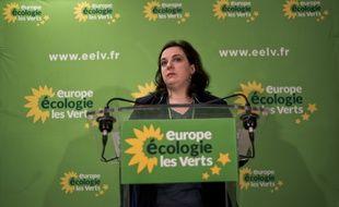 Emmanuelle Cosse, alors secrétaire nationale d'EELV, le 8 janvier.