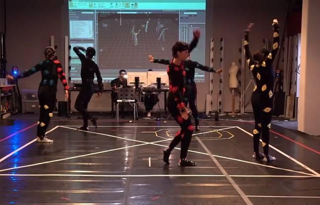 La motion capture a permis de retranscrire avec fidélité les mouvements de plusieurs danseurs.