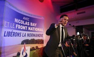 Nicolas Bay, le 13 novembre 2015, lors d'un meeting à Rouen.