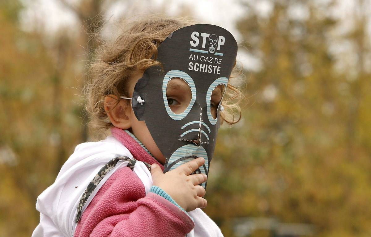 Une mobilisation contre les gaz de schiste. Photo d'illustration. – AVENTURIER PATRICK/SIPA