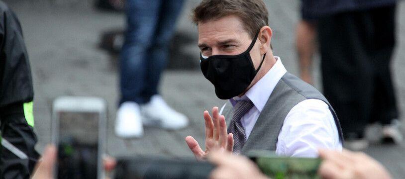 L'acteur Tom Cruise sur le tournage de «Mission: Impossible 7» en Italie