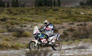 Le Chilien Francisco Lopez enlève la 7e étape du Dakar 2008 le 9 janvier 2009 à Valparaiso.