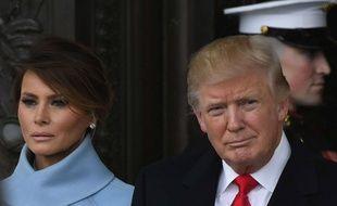 Donald Trump et Mélania Trump le jour de l'investiture du président, le 20/01/17.