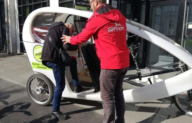 Les aveugles et déficients visuels peuvent bénéficier d'un vélo-taxi pour se déplacer à Lille.
