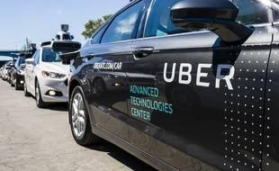 Un modèle de voiture autonome d'Uber. Illustration