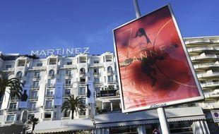 Vue de l'hôtel Martinez à Cannes en mai 2017.