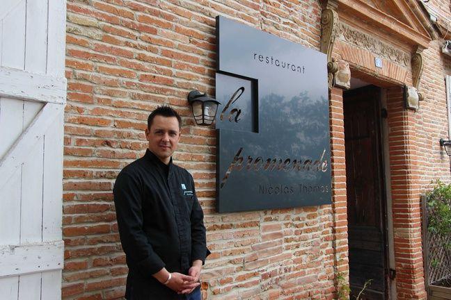 Nicolas Thomas, le chef du restaurant La promenade, à Verfeil, en Haute-Garonne, a obtenu le 5 février 2018 sa première étoile au guide Michelin.