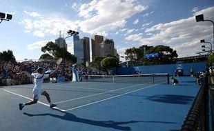 Un match du premier tour à l'Open d'Australie, le 18 janvier 2015.