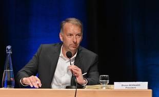 Bruno Bernard, ce 2 juillet 2020, lors de son élection à la présidence de la métropole de Lyon.
