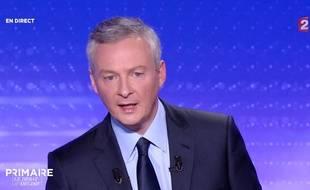 Bruno Le Maire, lors du dernier débat de la primaire à droite, le 17 novembre.