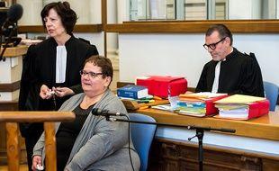 Dominique Cottrez et ses avocats à l'ouverture du procès le 25 juin 2015