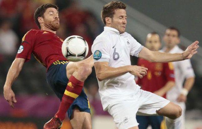 Yohan Cabaye face à l'Espagne, le 23 juin 2012