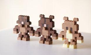 Des Legos en chocolat.