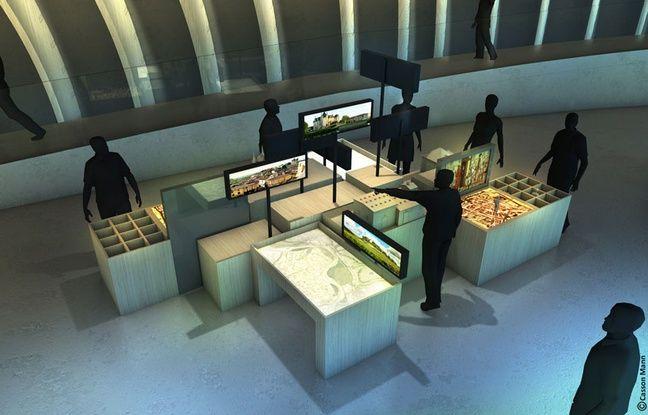 Image de synthèse d'un atelier de la future Cité des civilisations du vin de Bordeaux