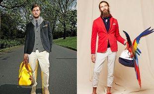 A gauche, le blazer réinventé par Crémieux et à droite, le style sportwear chic de Vicomte A.