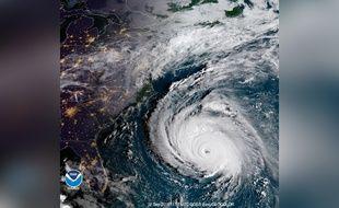Vue satellite de l'ouragan Florence à l'approche de la côte Est américaine, le 12 septembre 2018.