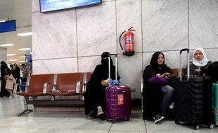 Une femme à l'aéroport Jeddah, en Arabie saoudite, le 6 août 2019.