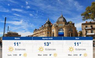 Météo Montpellier: Prévisions du dimanche 28 février 2021