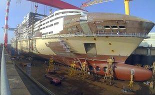 Le MSC Meraviglia en construction aux chantiers navals STX.
