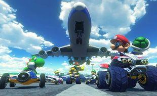 Le jeu vidéo Mario Kart 8 sur Wii U.