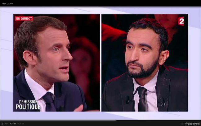 Sayah Baaroun face à Emmanuel Macron dans