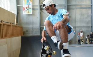 Vincent Mathéron va disputer les JO de Tokyo dans la catégories bowl du skateboard.