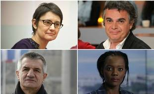 Les candidats à la présidentielle 2017 Nathalie Arthaud, Alexandre Jardin, Jean Lassalle et Rama Yade.