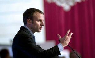 Le ministre de l'Economie Emmanuel Macron à l'Elysée le 27 octobre 2015 à Paris
