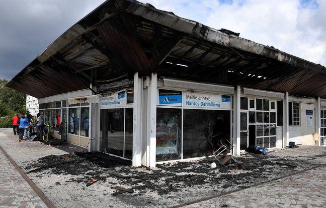 Le centre commercial des Dervallières après son incendie, le 5 juillet 2018.
