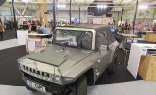 Strasbourg, le 9 septembre 2015 - Inventions du concours Lépine de la Foire européenne 2015. Hummer 100% électrique et sans permis de US Cars Technologie.