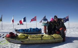 Jérémie et Stéphanie Gicquel ont traversé l'Antarctique à sli et sans assistance pendant 74 jours.