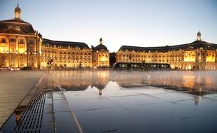 Bordeaux, 21 septembre 2011. - Le Miroir d'eau. - Photo : Sebastien Ortola