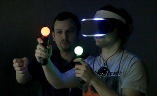 Le prototype de casque de réalité virtuelle de Sony, Project Morpheus.