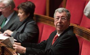 Patrick Balkany, le 17 février 2016 dans l'hémicycle de  l'Assemblée nationale.
