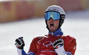 Pierre Vaultier, double champion olympique, le 15 février 2018.