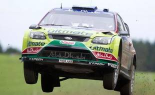 Le Finlandais Jari-Matti Latvala remporte le rallye de Nouvelle-Zélande, le 9 mai 2010.